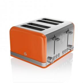 Swan Retro 4 Slice Toaster - Orange