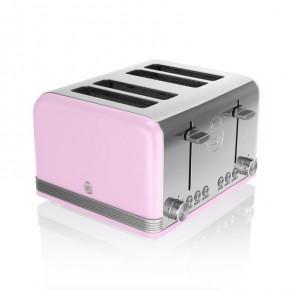 Swan Retro 4 Slice Toaster - Pink