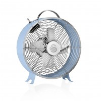 "Swan Retro 8"" Clock Fan - Blue"