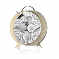 "Swan Retro 8"" Clock Fan - Cream"