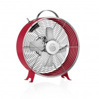 "Swan Retro 8"" Clock Fan - Red"