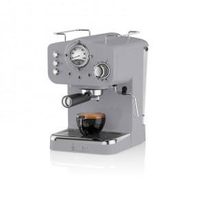 Swan Retro Pump Espresso Coffee Machine - Grey