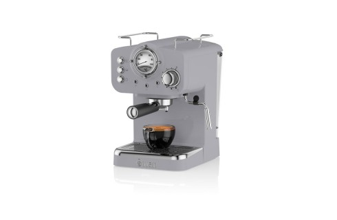 Swan Retro Pump Espresso Coffee Machine - Grey