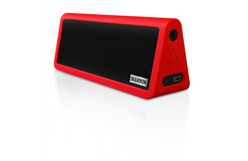 Sweex Rock Star 6 Watt Portable Bluetooth Speaker - Red