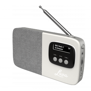 Lava Akoni Portable DAB Radio - Cream