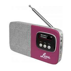 Lava Akoni Portable DAB Radio - Purple