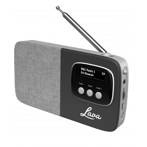 Lava Akoni Portable DAB Radio - Black