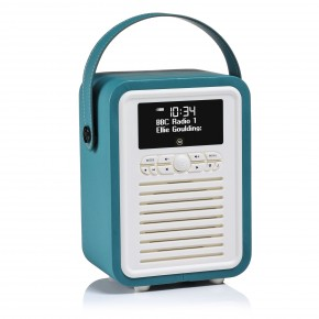 View Quest Retro Mini DAB+, FM & Bluetooth Speaker - Teal