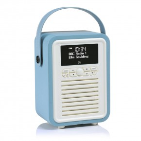 View Quest Retro Mini DAB+, FM & Bluetooth Speaker - Blue