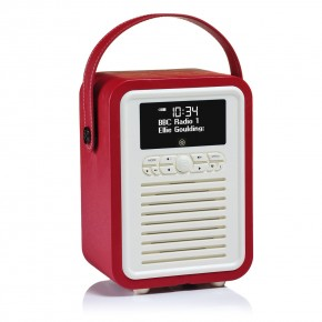 View Quest Retro Mini DAB+, FM & Bluetooth Speaker - Red