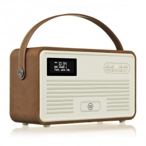 View Quest Retro II DAB+ & FM Radio, Bluetooth & Apple Lightning Dock Speaker - Brown
