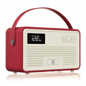 View Quest Retro II DAB+ & FM Radio, Bluetooth & Apple Lightning Dock Speaker - Red