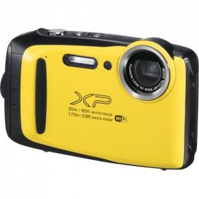Fujifilm Finepix XP130 Waterproof Digital Camera, 16gb Card & Case Bundle - Yellow