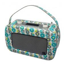 Kitsound Jive Portable DAB/FM Retro Radio - Flowers