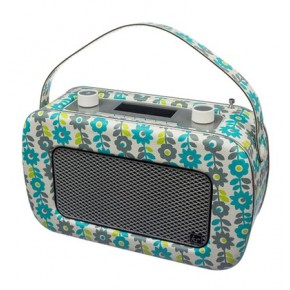 Kitsound Jive Portable DAB/FM Retro Radio - Flowers