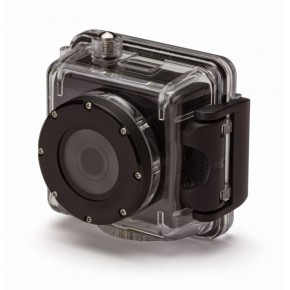 Kitvision Splash Full 1080p Action Camera with Screen, 16GB Card & Selfie Stick - Black
