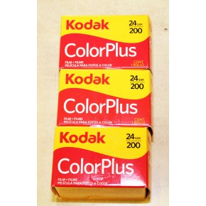 Kodak ColourPlus 200asa 24exp Colour Print Film Triple Pack
