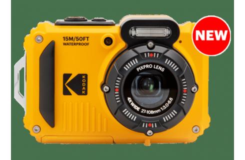 Kodak Pixpro WPZ2 Waterproof 16 megapixel Digital Camera, 16gb Card & Case - Yellow/Black